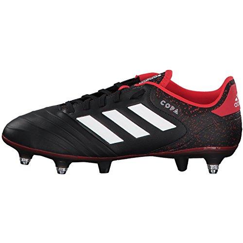 adidas Herren Copa 18.2 SG Fußballschuhe Schwarz (Core Black/Footwear White/Real Coral)