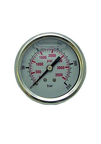 pwpuk Hochdruckreiniger Manometer 0-250 bar 3600 psi S/S Body Glycerin gefüllt -