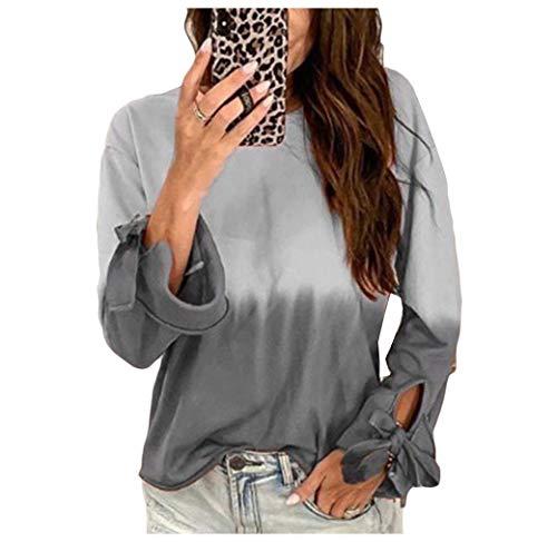 Energy Womens Lounge Long Sleeve Shirts Gradient Ramp Pullover Sweatshirt Grey 2XL (Womens L/s Lounge Shirt)
