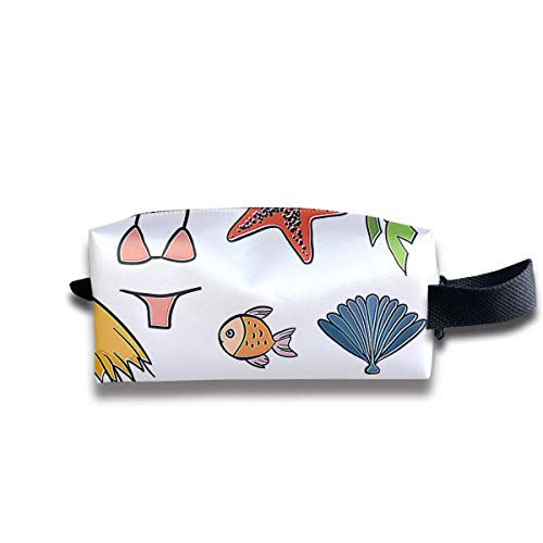 Free Beach Women Cosmetic Bag Travel Girls Oxford Toiletry Bags Lovely Portable Hanging Organizer Makeup Pouch Pencil Case