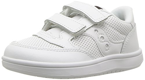 Saucony Baby Jazz Court Sneaker, White, 8 Wide US Toddler -