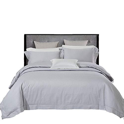 JASONN 4-teiliges Bettwäscheset Steppdecke mit 2 Kissenbezügen + Spannbetttuch, Baumwolle, bequem für alle Jahreszeiten. Erhältlich im Einzel-Doppel,Gray,1.5/1.8mbed