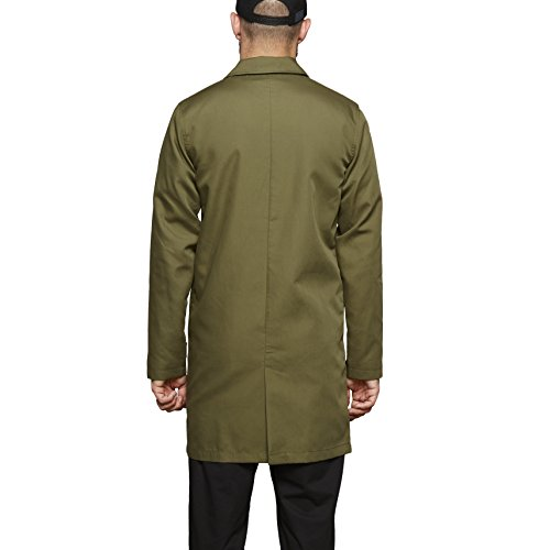SUIT Emilio-q5112, Trench Coat Homme Grün (Dust Green 1185)