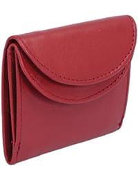 Petit portemonnaie LEAS, cuir véritable, rouge - ''LEAS Mini-Edition''