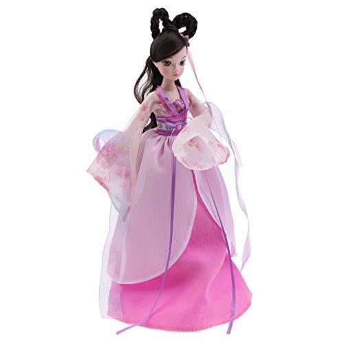MagiDeal Handgemachte Schöne Chinesische Alte Fee Kostüm sieben Prinzessin Puppe für Kinder Spielzeug Geschenk - (Diy Kostüm Fee Lila)
