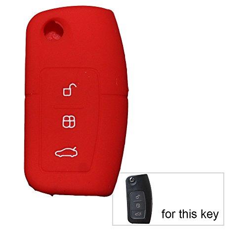 Muchkey in Silicone Auto chiave cover pelle Giacca per Ford 3pulsanti 1pc