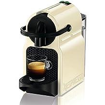 Nespresso DeLonghi Inissia EN 80CW-Cafetera de cápsulas, 19 bares, compacta, apagado automático, color Vanilla Cream