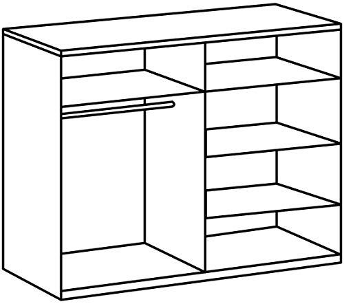 Wimex Schlafzimmer Set Nora, bestehend aus Bett, Nachschrank-Set und Kleiderschrank, Liegefläche 180 x 200 cm, Weiß/ Absetzung Anthrazit -