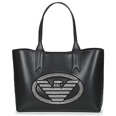 Emporio Armani Logo Shopping Mujer Handbag Negro de Emporio Armani