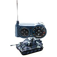 SODIAL(R) 1:72 Mini RC Tanque Asalto vehiculo de control remoto miniatura de juguete Nino