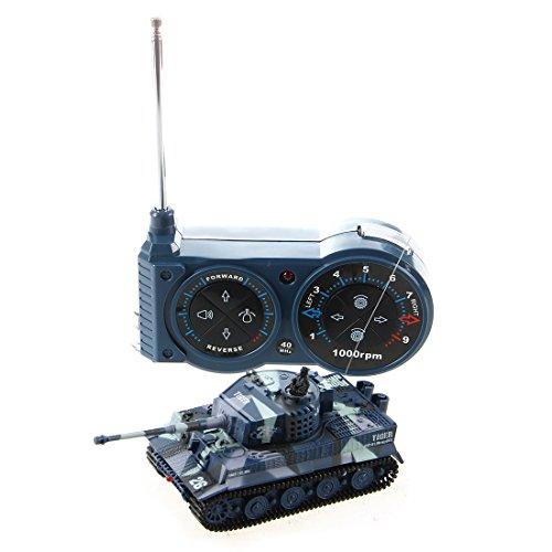 SODIAL (R) 1:72 Mini Tank Tank Assault Vehicle RC Fernbedienung Spielzeug Miniatur Kinder