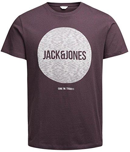 Jack & Jones Herren T-Shirt Burgundy Fudge