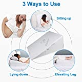 Goldstar Bed Wedge Pillow for Back Pain Snoring Gerd Acid Reflux Heartburn Indigestion Respiratory Problems. Ideal Sleeping Reading Rest Elevation Orthopedic Foam Antibacterial Hypo Allergenic