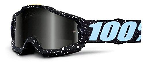 100% Motocross Brille Crossbrille Accuri Milkyway Schwarz Weiß Klar Silber Verspiegelt Quad Atv Mx Sx Offroad Mtb (Verspiegelt)