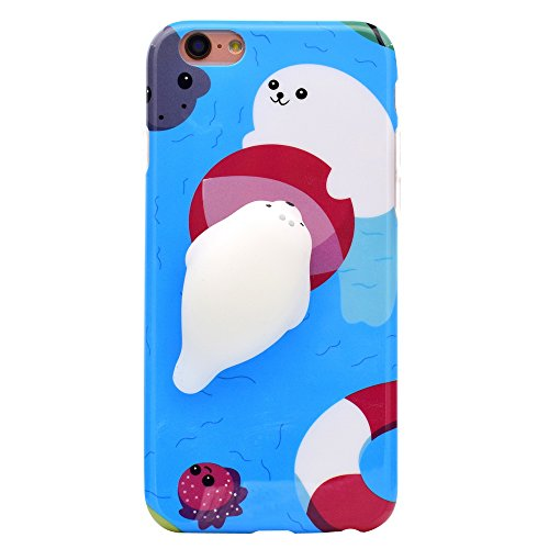 Buy cheap iphone hulle squishy cartoon plastik cute tier phone case weiche silikon tpu finger pinch back