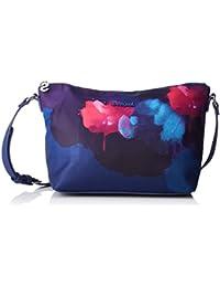 Desigual - Bols_blue Painter_catania, Bolsos bandolera Mujer, Azul (Jeans), 10.5x20.5x24.5 cm (B x H T)