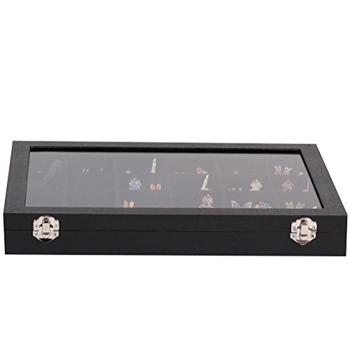 Zhhlaixing Fashion Premium 24 Sectioned Studd Case Travel Cufflink Box - Premium Quality Jewellery Storage Box