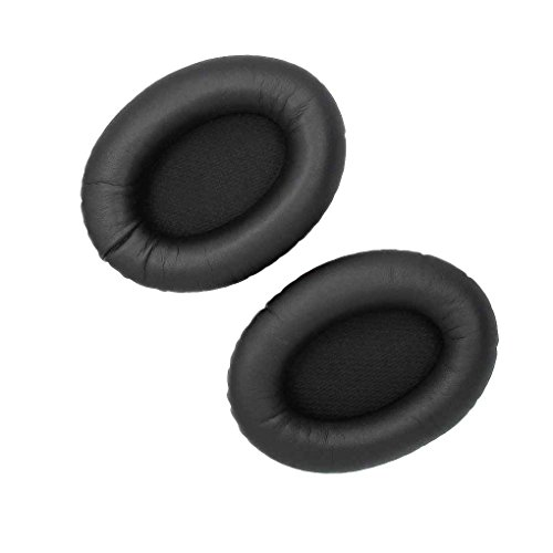 Minzhi 1 Paar Gedächtnis-Schaum Ersatzlederohrpolster Earpad Kissen Ohr-Abdeckung für Bose QuietComfort2 QC2 QC15 Kopfhörer -