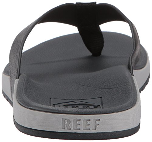 REEF homme Contoured voyage tongs, noir, 12 UK Grey/Black