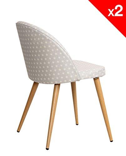 lot de 2 chaises cocktail scandinave - Lot 6 Chaises Scandinaves2126