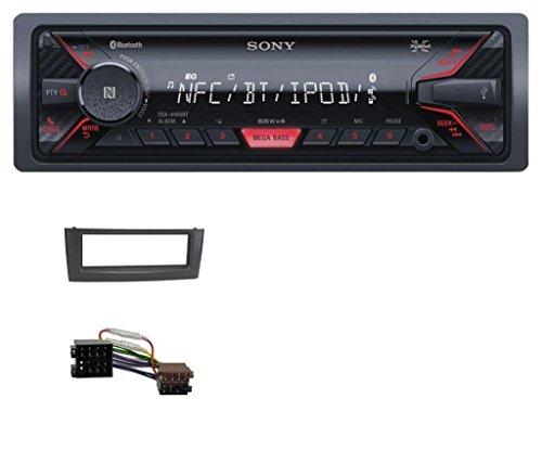fiat grande punto radioblende caraudio24 Sony DSX-A400BT Bluetooth Aux USB MP3 Autoradio für FIAT Grande Punto Punto ab 05 Schwarz