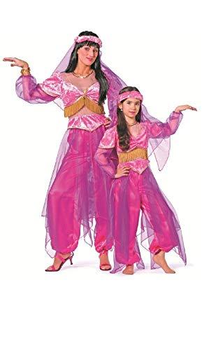 Bauchtänzerin Mädchen Harem Kostüm - W3138-164 pink Mädchen Kinder Orient Kostüm Bollywood Prinzessin Gr.164