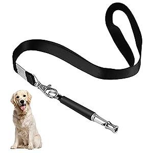 Chien sifflets, professionnel à ultrasons sifflets de dressage de chien pour rappel, Premium réglable Sifflet pour chien avec tour de cou pour animal domestique pour arrêter d'Aboyer de formation, cours Desquels la rapporter, assis, avec support, pour, et