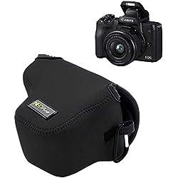 Mondpalast MPTECK @ Funda Cámara Reflex Neopreno Protectora para Canon EOS M50 y Objetivo de 15-45 mm