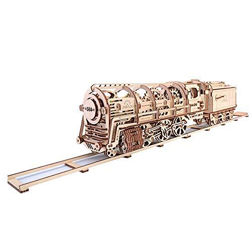 echanische Übertragung Modell 3-D Holzpuzzle - Mechanische Dampflok Zug Motor (433 Stück Kleine Stücke) ()