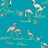 Art Gallery Fabrics - Baumwollstoff Meterware mit Flamingos