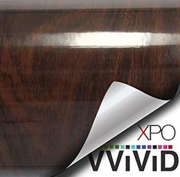 3' Vinyl (VViViD Holzmaserung Faux Finish Strukturierte Vinyl-Folie Dekorative Rolle XPO 3ft x 48