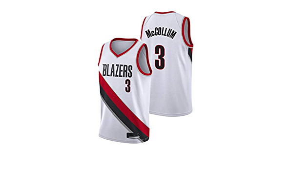 G/&F Fans Swingman Jersey Basketball Training Wear Portland Trail Blazers #3 C.J Size : S McCollum Mesh High Elasticity Embroidered Jersey S-XXL