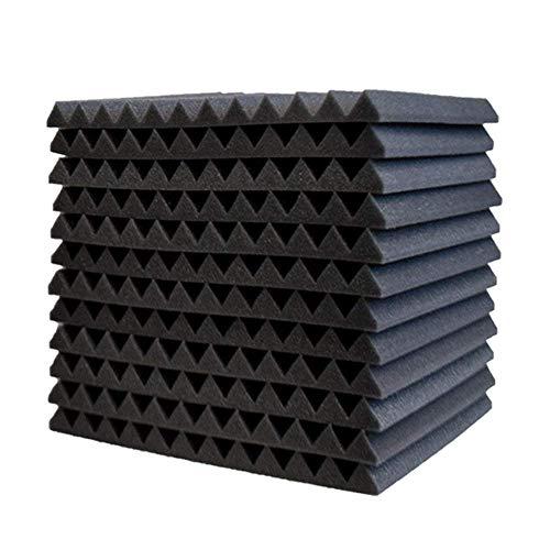 EisEyen 12 Stück Akustik Schaumstoff Akustikschaumstoff Noppenschaumstoff Breitbandabsorber Dämmung (30 * 30 * 2.5cm) Schwarz/Rot/Blau/Gelb