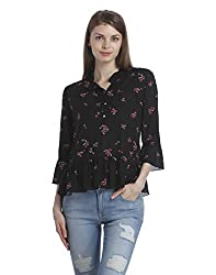 ONLY Womens Regular Fit Synthetic Shirt (1831298002_Black_36)