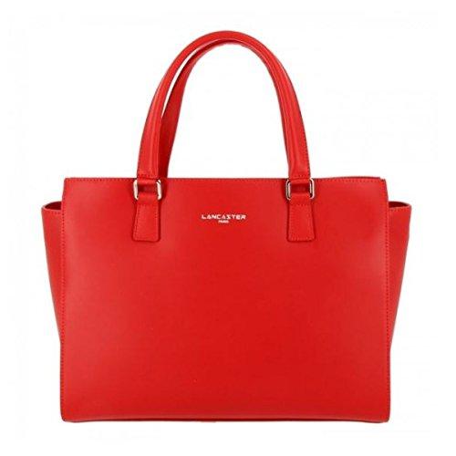 Lancaster sac a main cuir de vachette constance 31 cm rouge femme
