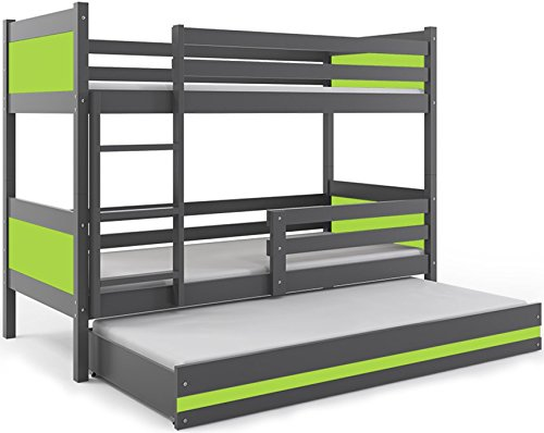 LITERA INFANTIL TRIPLE (3 camas) 190x80, color gris (LOS PANELES EN VARIOS...