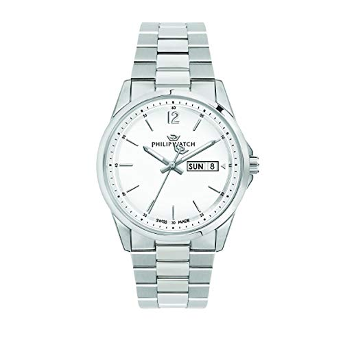 Philip Watch Men's Watch, Capetown Collection, Quartz Movement and Three Hands with Day-Date, Equipped with a Stainless Steel Bracelet - R8253212002