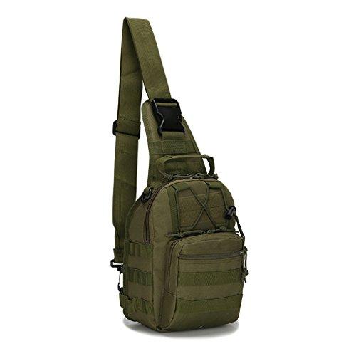 Mcdobexy zaino monospalla uomo militare casuale portabile impermeabile all'aperto borsa per sport campeggio caccia escursionismo ciclismo