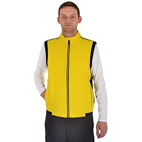 adidas Performance Mens ClimaProof Stretch Golf Wind Vest - Yellow