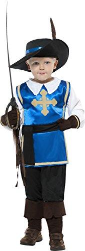Musketiere Für Kinder Kostüm (Smiffys Kinder Musketier Kostüm, Oberteil, Hose, Hut und Handschuhe, Größe: S,)