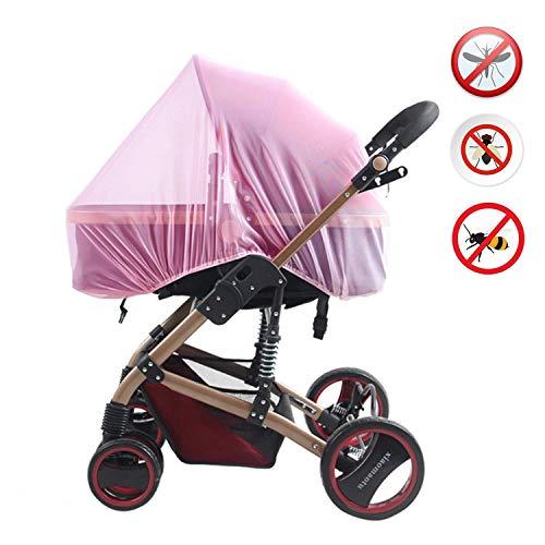 Zanzariera per Passeggino Universale,Protezione da vespe, zanzare e insetti, tessuto a rete fina per Passeggino Copertura Passeggino Buggy (rosa)