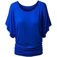 Minetom Donna Sexy Girocollo T-shirts Manica Corta Camicetta Maglia Batwing