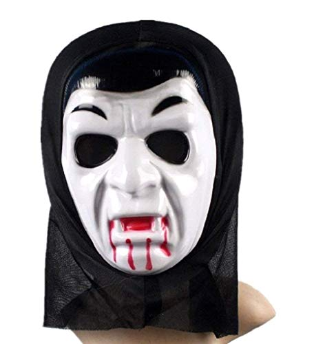 EVRYLON Maschera Vampiro Bambino Halloween Uomo Ragazzo Mascherina Dracula Twilight Colore Bianco Giochi e Accessori Cosplay per Travestimenti e Costumi per Carnevale Taglia Unica