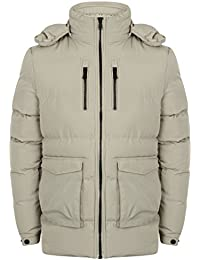 Giacca da uomo Dissident Parka stile giacca trapuntato imbottito Felpa con  cappuccio BOLLE foderato inverno e20272af47b