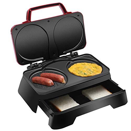 YHSFC Elektrische Waffeleisen Muffinkuchen Dorayaki 3-in-1 Frühstück Maschine Haushalt Spiegelei Sandwich-Toaster Crepe Grill
