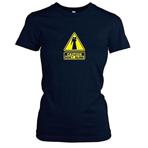 TEXLAB - Don't Blink - Damen T-Shirt Dunkelblau