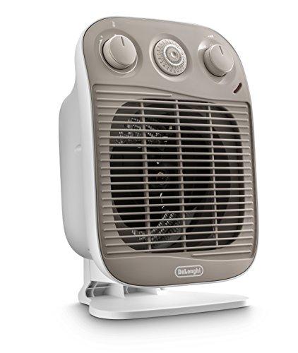 De'longhi hfs50d22 termoventilatore vertical edge, bianco/beige