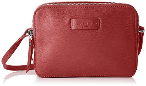 Liebeskind Berlin Damen Essential Camera Bag Small Umhängetasche, Rot (Italian Red) 7x14x20 cm