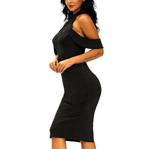 GJX Après la jupe ouverte robe serrée fourche Black