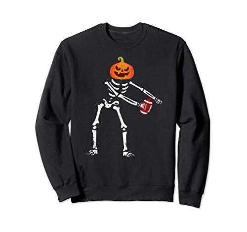 Flossing Skeleton Funny Football Lover Floss Dance Sweatshirt